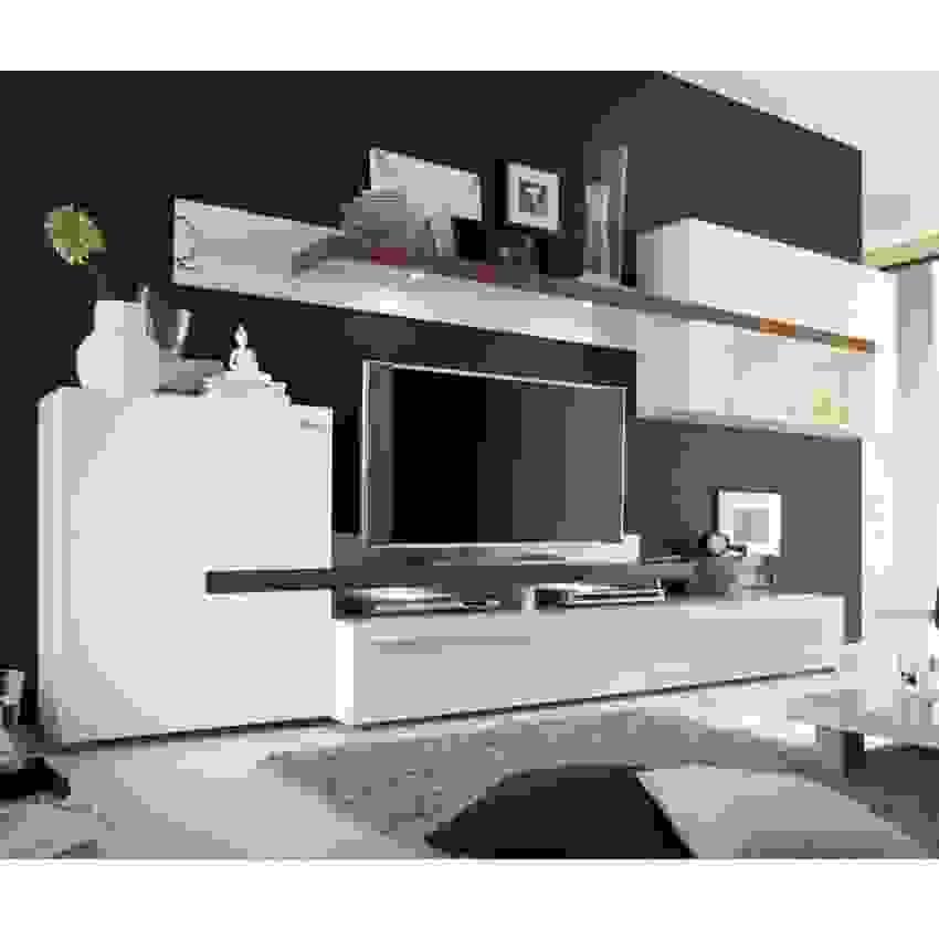 Yarial = Wohnwand Hochglanz Weiß Nussbaum Ist Oberteil Konzept Von von Wohnwand Nussbaum Weiß Hochglanz Bild