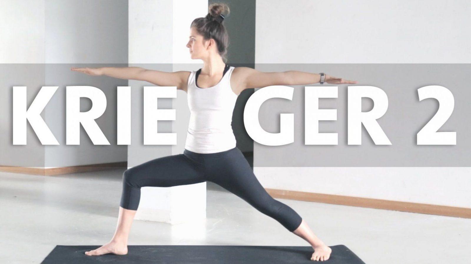 Yoga Anfänger  Krieger 2 Asana Lernen  Virabhadrasana 2  Youtube von Yoga Lernen Zu Hause Bild