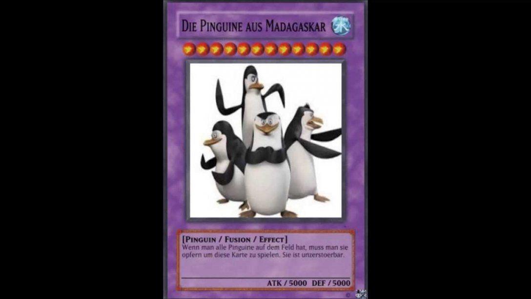 Yugioh Karten  Die Pinguine Aus Madagascar [Deutschgerman]  Youtube von Yugioh Karten Selbst Erstellen Bild