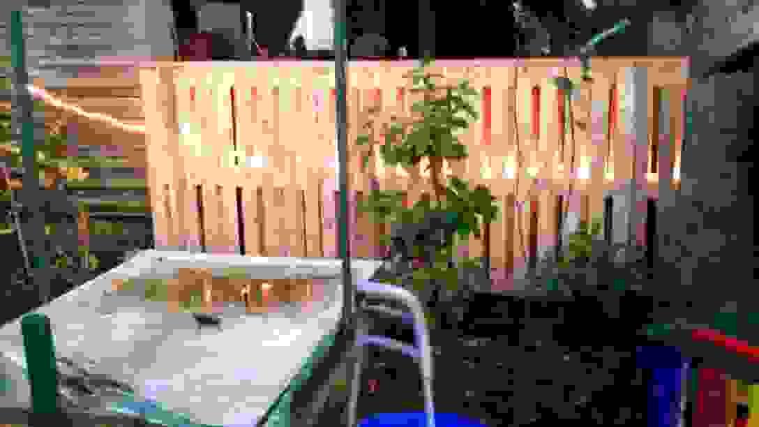 Zaun Aus Paletten Finest Sichtschutz Garten Selber Bauen Schn Von von Sichtschutz Aus Paletten Selber Bauen Bild