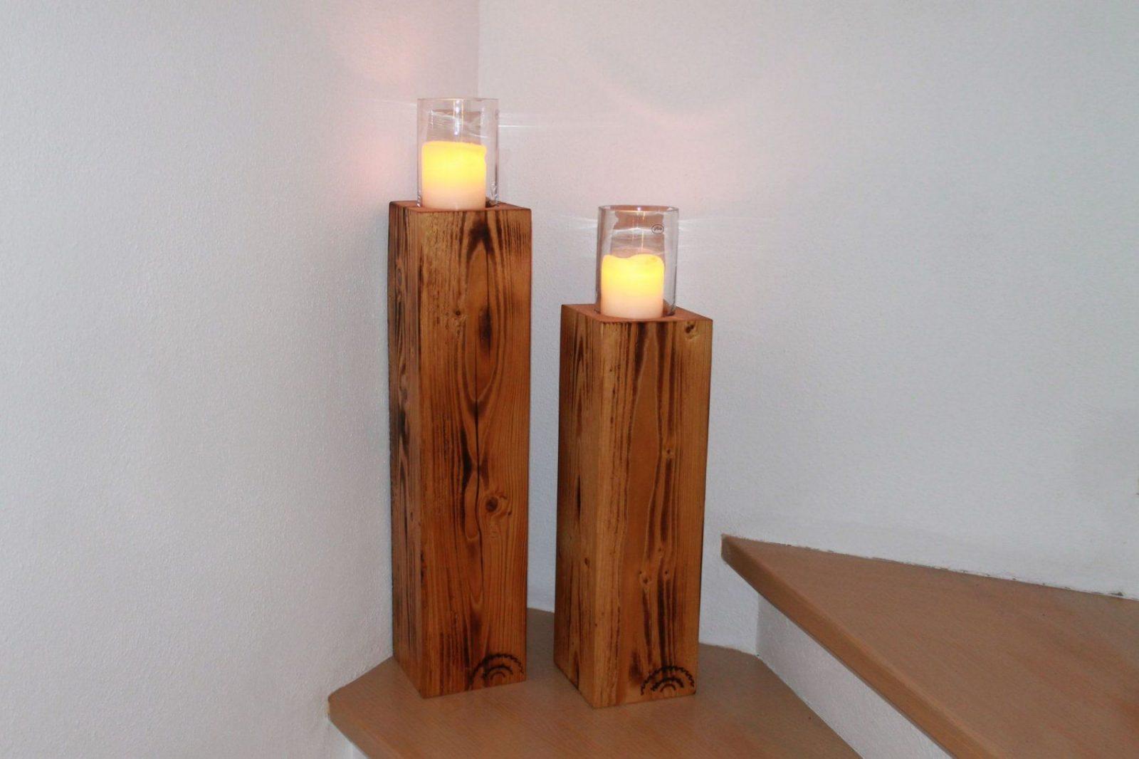 Zeitgenössisch Kerzenständer Holz Selber Bauen Kerzenständer Antik von Kerzenständer Selber Machen Holz Bild