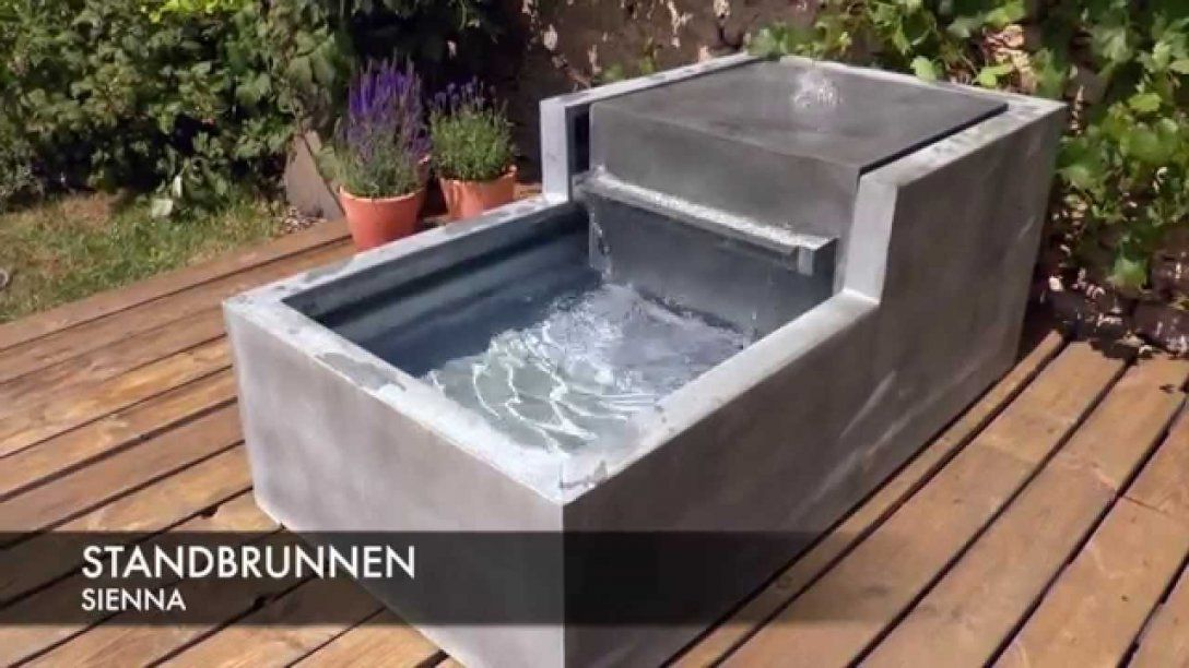 Zinkbrunnen Gartenbrunnen  Sienna  Youtube von Wasserfall Brunnen Selber Bauen Bild