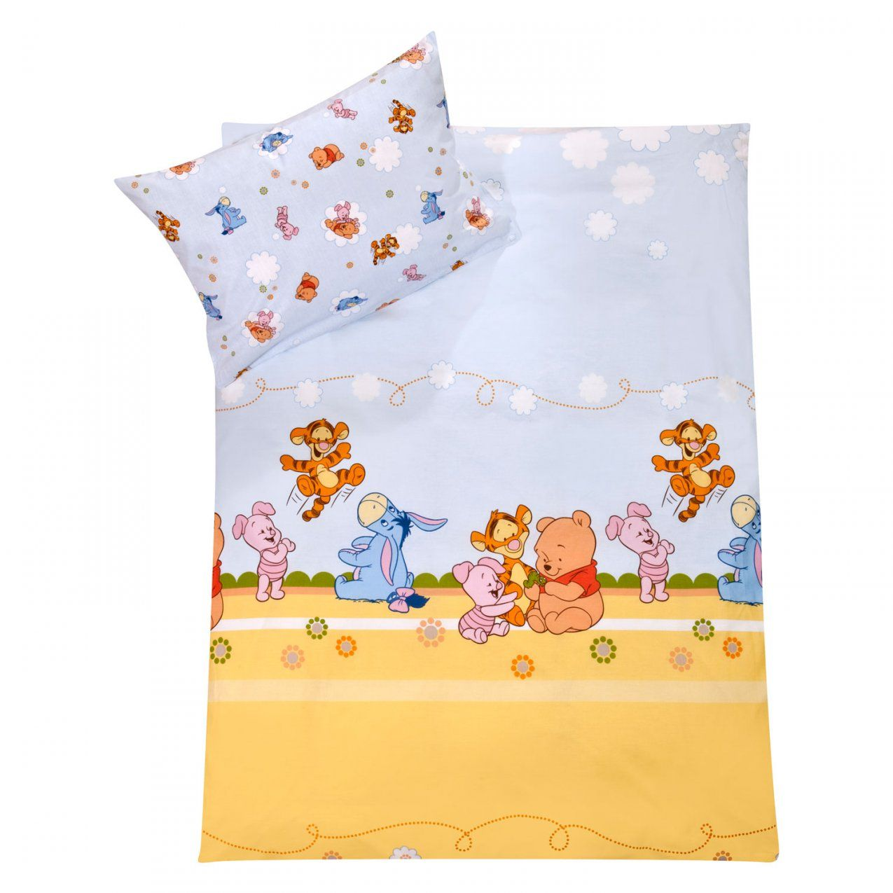 Zöllner Bettwäsche 100X135 Cm Disney Pooh & Friends Blau von Baby Bettwäsche Disney Photo