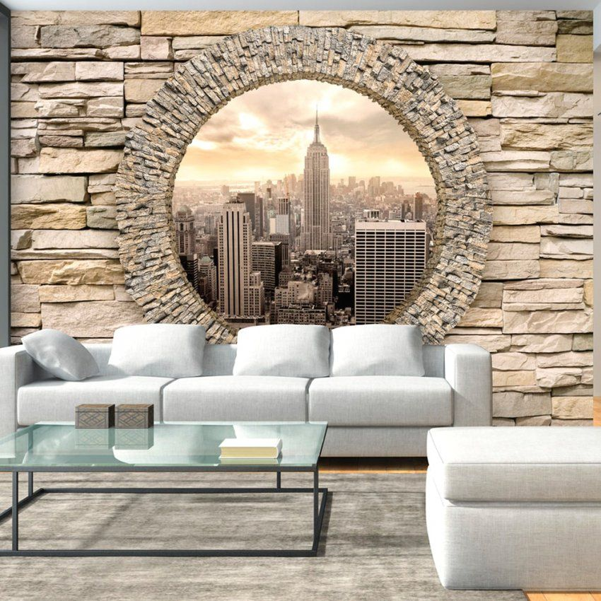 Zufriedene Ideen Tapeten In Steinwand Optik Und Angenehme Imposing von Fototapete 3D Stein Tapete Photo