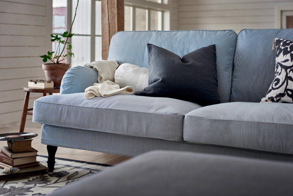 Zuhause Bei Ikea Februar 2016 von Sofa Blau Weiß Gestreift Bild