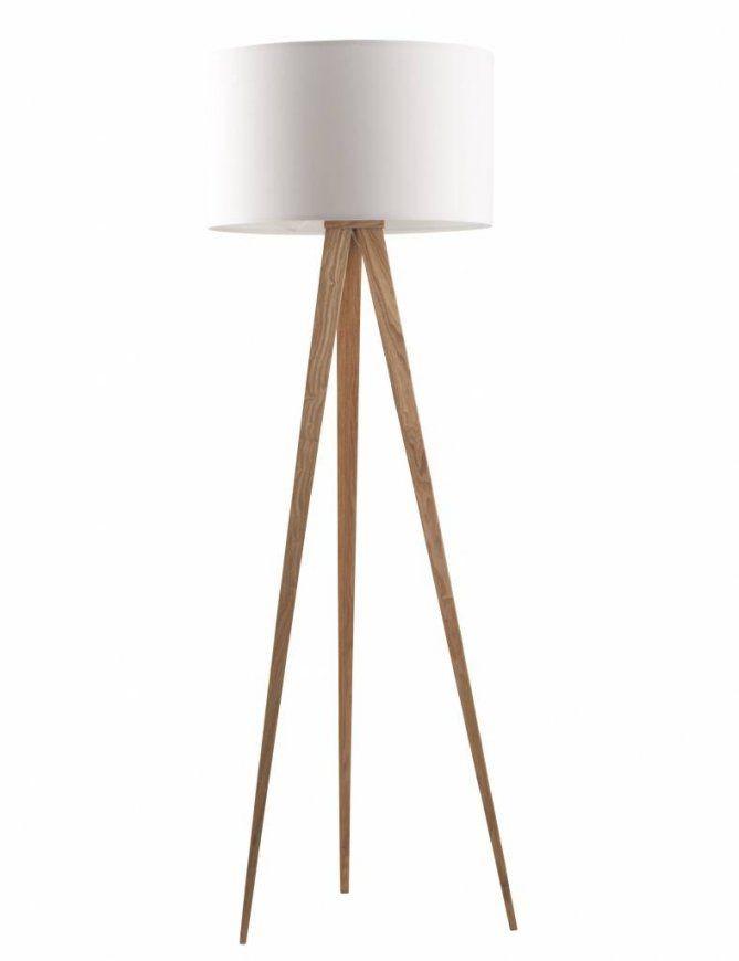 Zuiver Stehlampe Tripod Aus Aus Holz Naturweiß 151X50Cm von Stehlampe Mit 3 Beinen Bild
