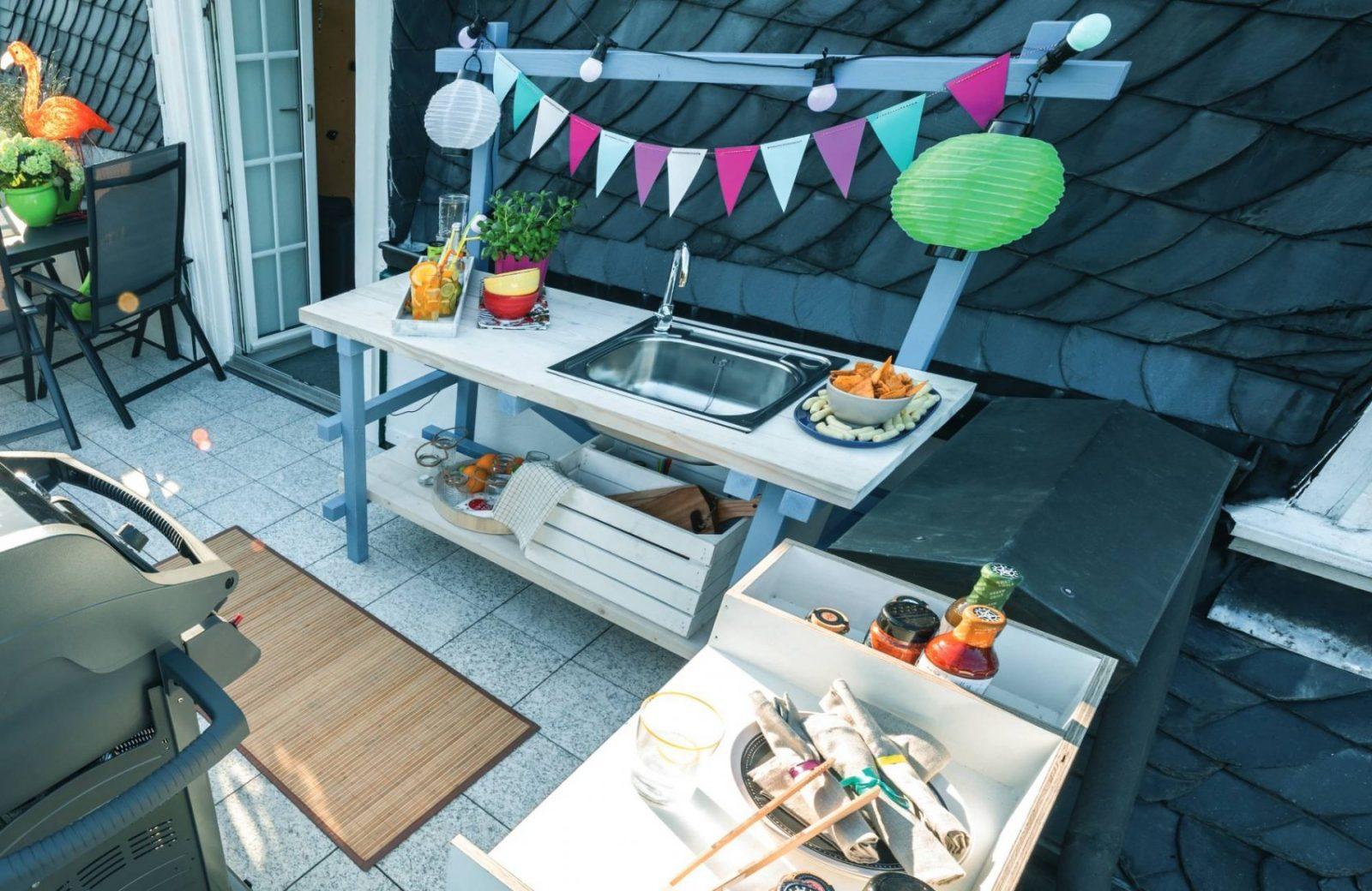 Outdoorküche Aus Holz Bauen von Gartenküche Selber Bauen Bauplan Photo