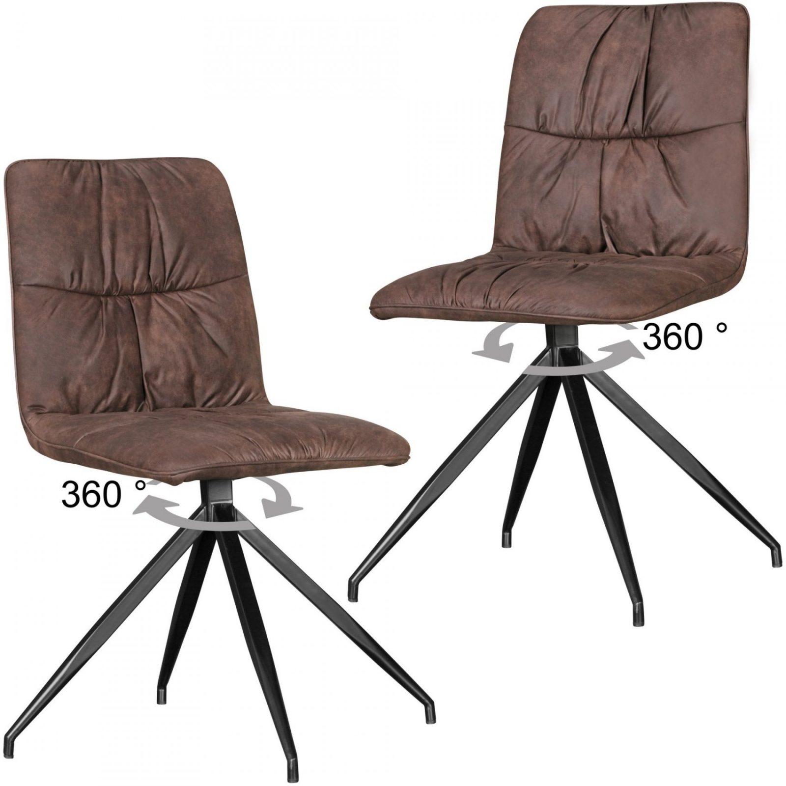 2Er Set Design Esszimmerstühle Drehbar Küchenstühle Retro Vintage Bezug Metall von Esszimmerstühle Mit Armlehne Drehbar Bild