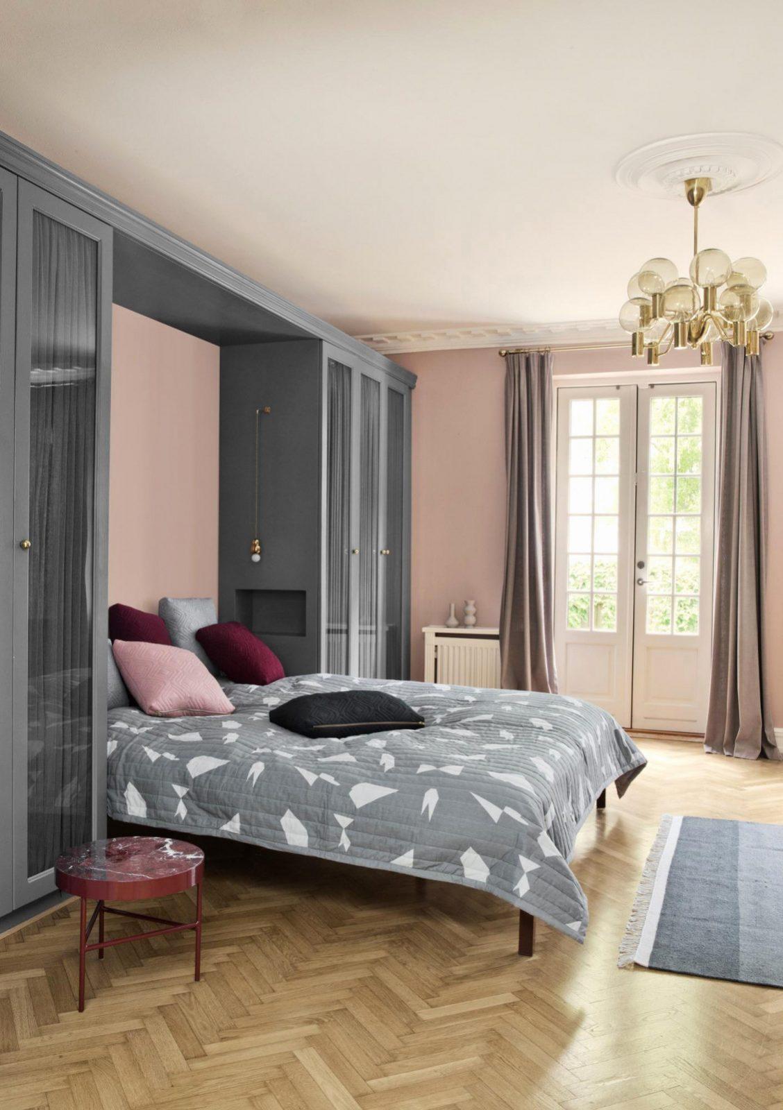 31 Luxus Schlafzimmer Grau Rosa  Buch Schlafzimmer Gestalten von Schlafzimmer Ideen Grau Bild