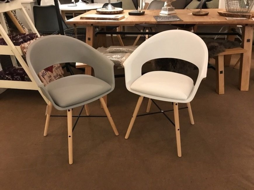 Armlehnstuhl Stühle Esszimmerstühle Stuhl Armlehne Weiß Grau von Esszimmerstühle Grau Mit Armlehne Bild