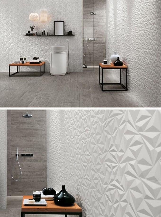 Badezimmer Fliesen Ideen Installieren 3D Fliesen Zu von Badezimmer Fliesen Design Ideen Bild