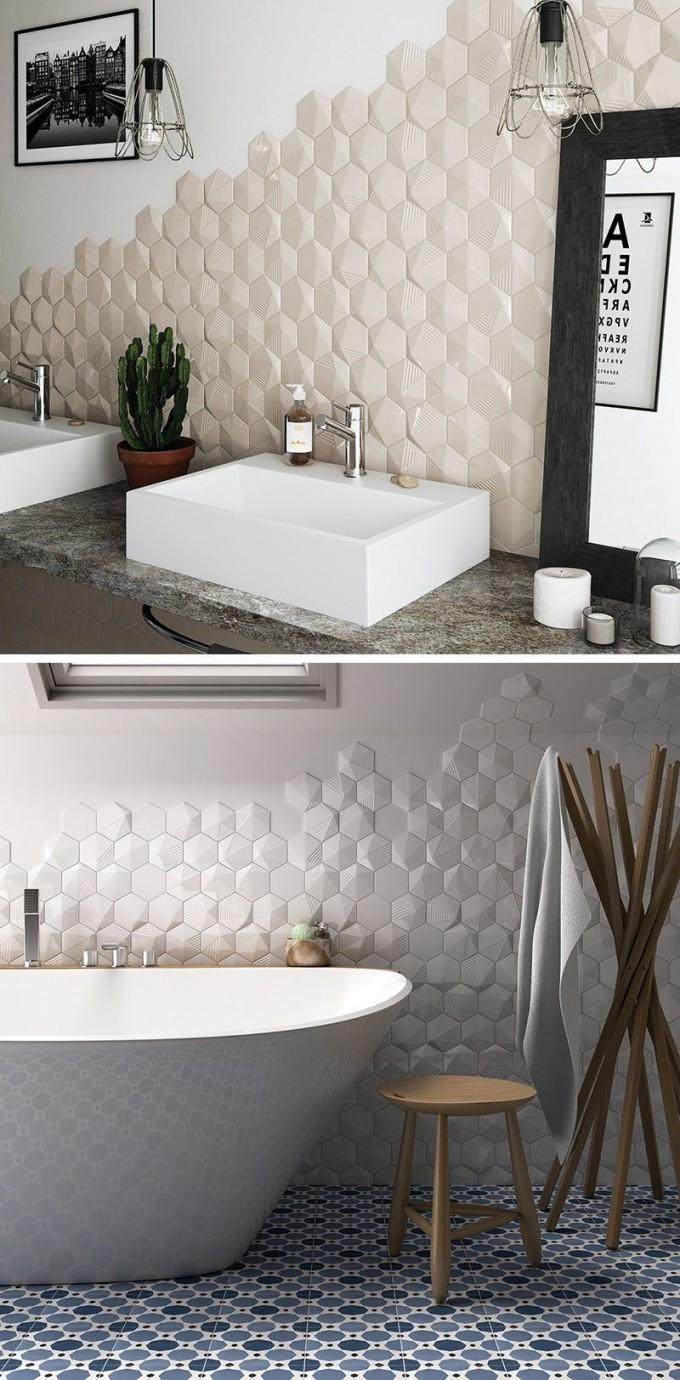 Badezimmer Fliesen Ideen Installieren 3D Fliesen Zu von Badezimmer Fliesen Design Ideen Photo