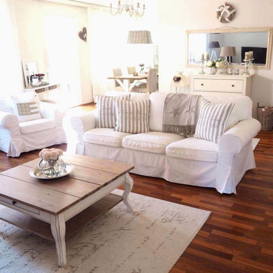 Deko Landhausstil Wohnzimmer Konzept Worauf Sie Achten Sollten von Moderner Landhausstil Dekoration Bild
