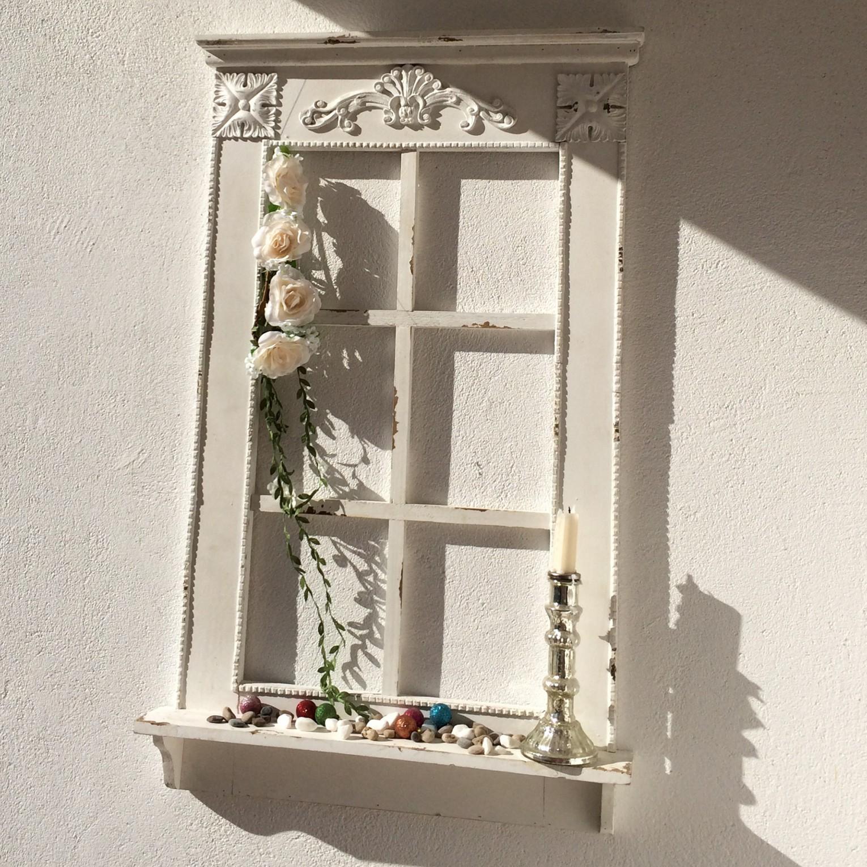 Dekofenster Mit Fensterbank Im Antikfinish H 93 Cm von Dekoration Für Fenster Bild