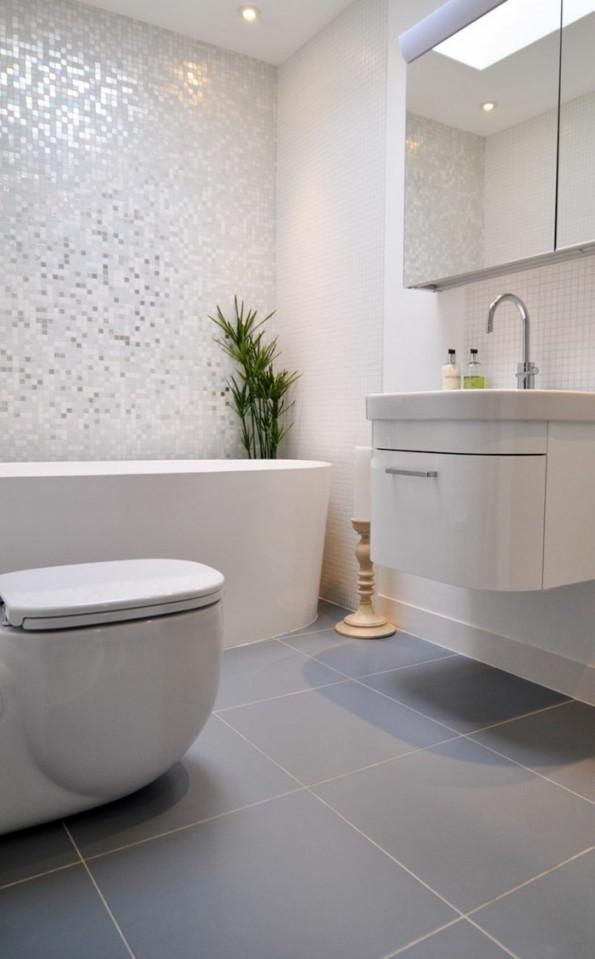 ▷ Graue Fliesen Fürs Badezimmer  61 Bilder Die Sie von Badezimmer Fliesen Ideen Grau Bild