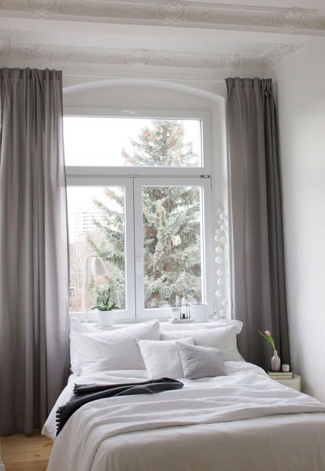 Ein Blick In's Neue Schlafzimmer  Home Style  Altbau von Vorhänge Ideen Schlafzimmer Photo