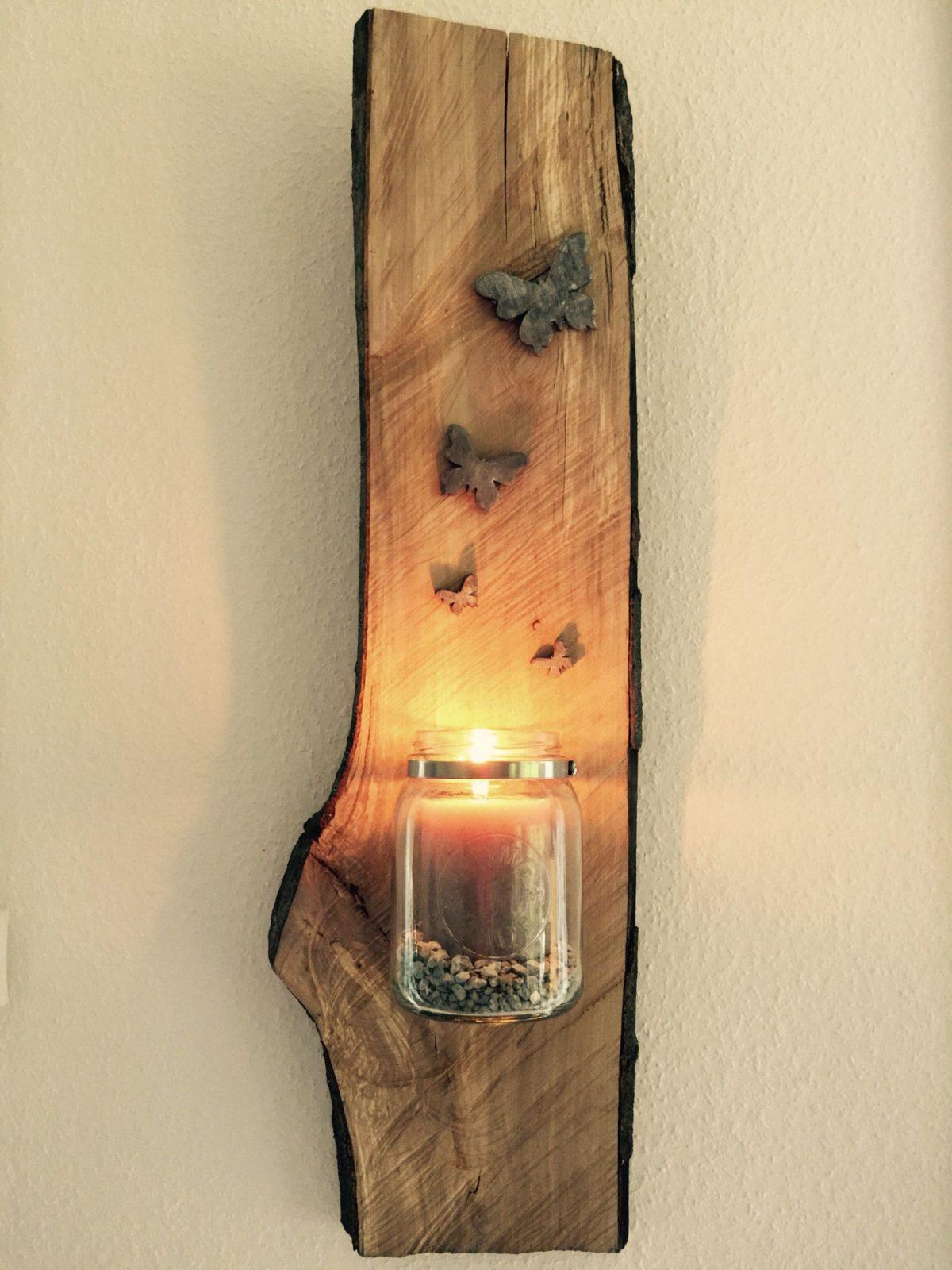 Einmachglas Auf Holz  Holz  Deko Holz Holz Und von Holz Dekoration Wand Bild