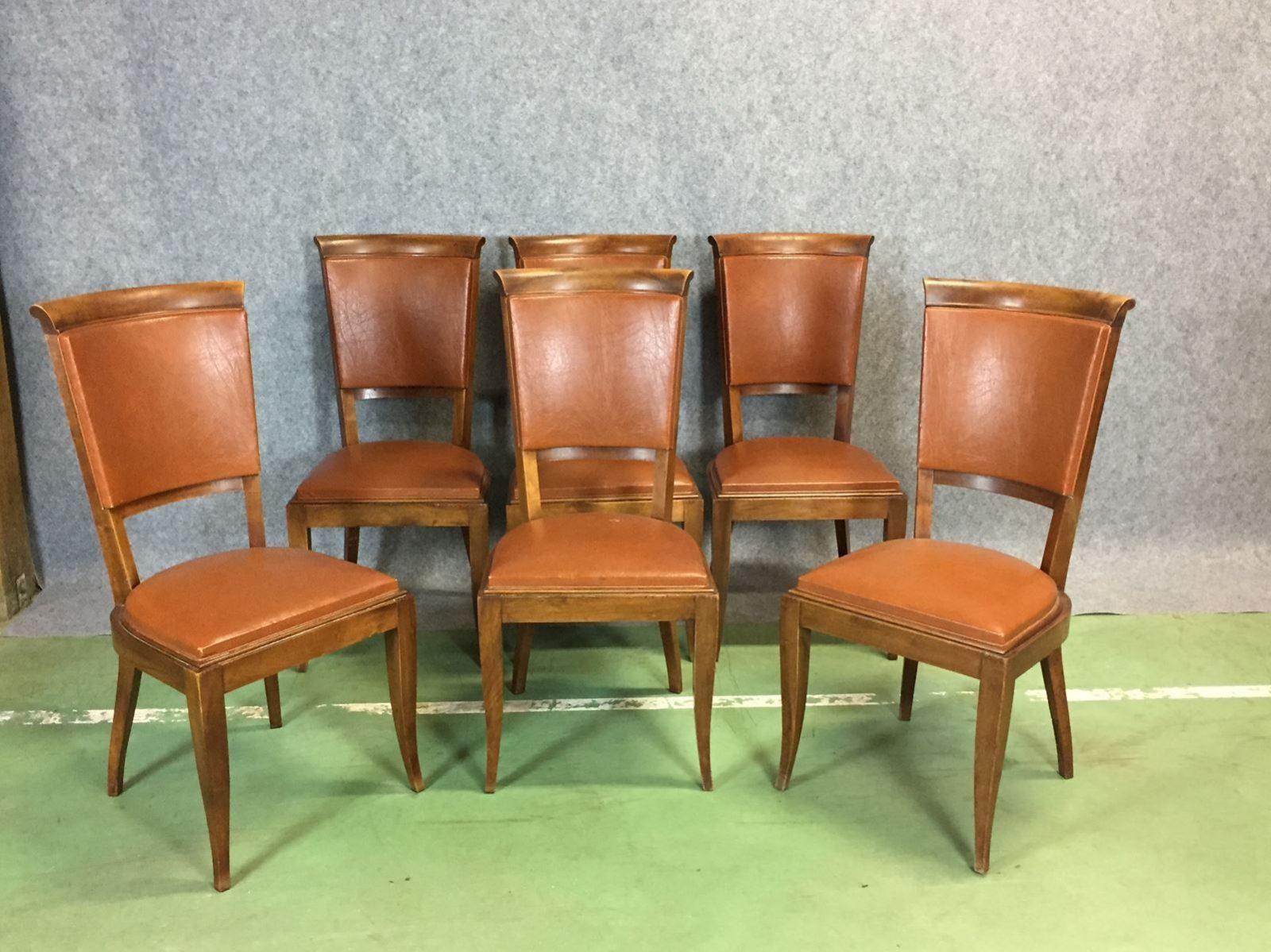 esszimmerstühle 6er set braun