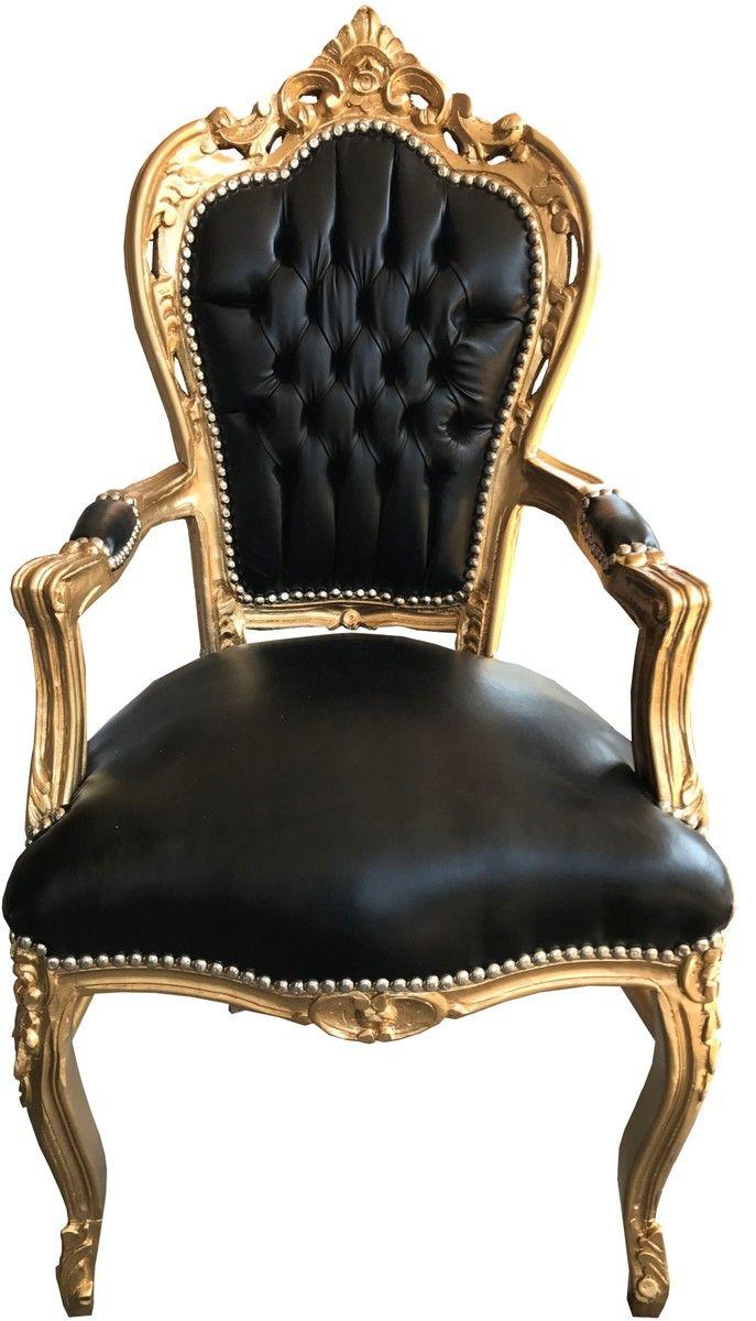 esszimmerstühle leder schwarz mit armlehne