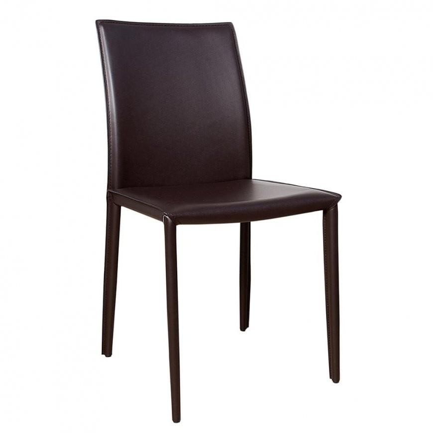 Exklusiver Design Stuhl Milano Echt Leder Coffee Ziernaht Stühle Esszimmer von Esszimmerstühle Leder Mit Armlehne Bild