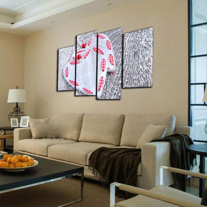 Förderung Moderne Home Dekoration Wand Bilder Hd Gedruckt 4 Stück Leinwand  Kunst Große Grau Drucke Und Poster Weiß Herz Gemälde von Dekoration Für Die Wand Bild