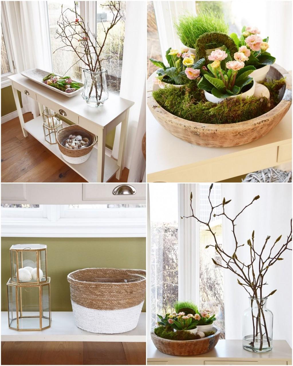 Frühlingsdekoideen Für Sideboard Und Konsole Kreativ von Schöne Dekoration Für Die Wohnung Bild