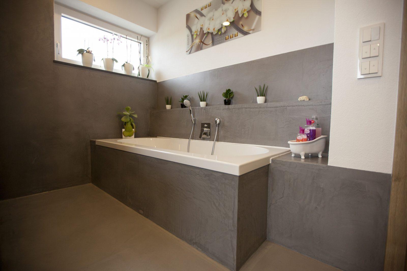 Fugenloses Bad Komplett Ohne Fliesen Mit Dracholin Cosmato von Badezimmer Ideen Ohne Fliesen Bild