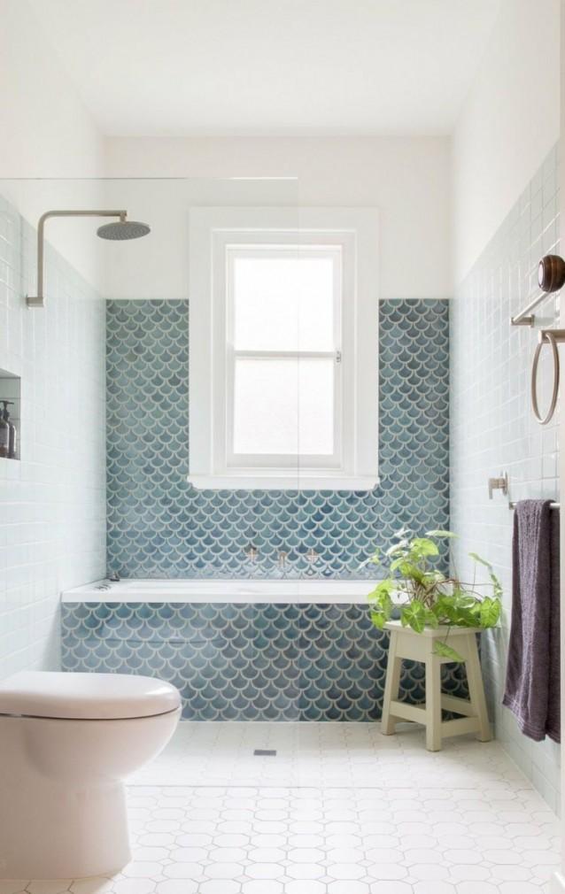 Gestaltungs Und Einrichtungsideen Für Das Bad Mit Blauen von Fliesen Badezimmer Ideen Photo