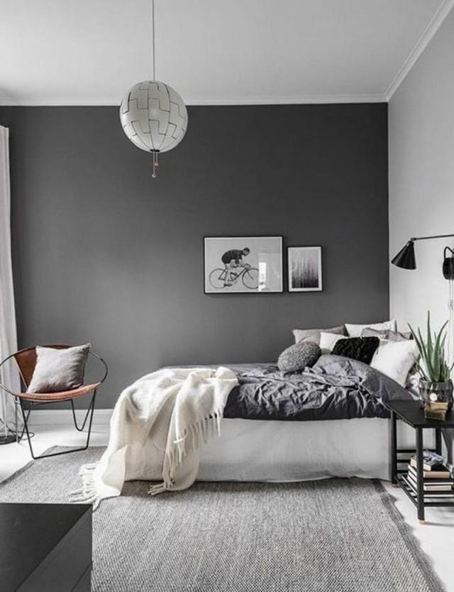 Graue Schlafzimmer Wandfarbe In 100 Beispielen  Bedroom von Wandfarben Ideen Schlafzimmer Bild