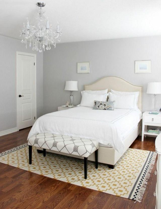 Graue Schlafzimmer Wandfarbe In 100 Beispielen von Schlafzimmer Weiß Ideen Bild