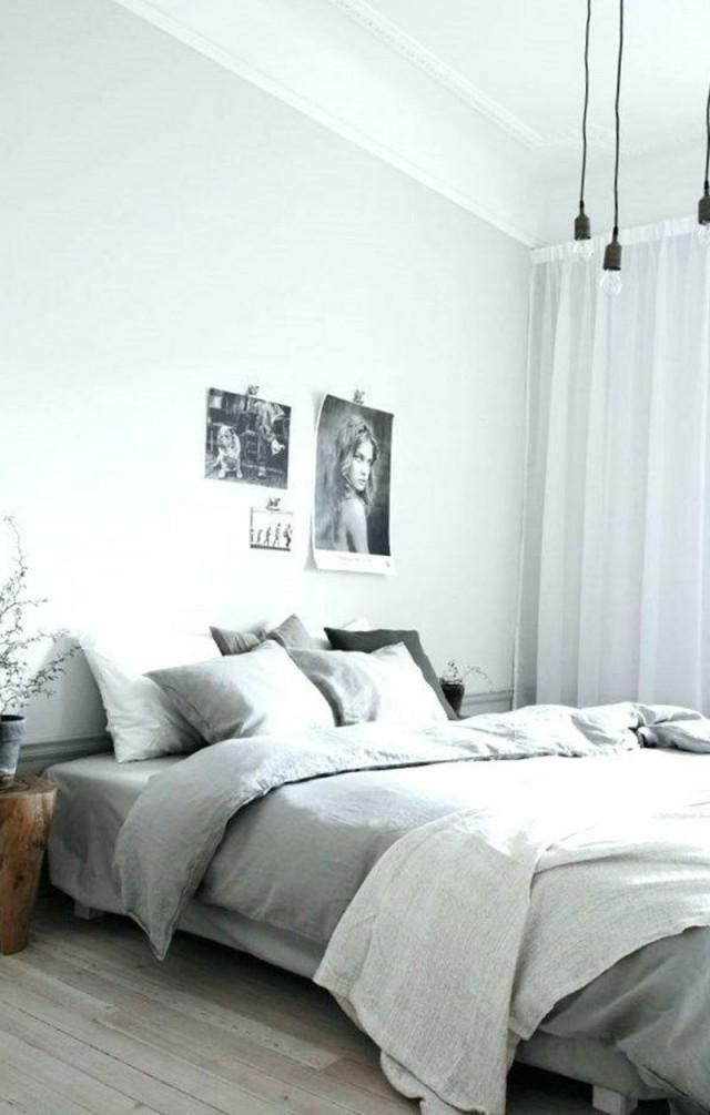 Graue Schlafzimmer Wandfarbe In 100 Beispielen  Wnętrza von Wandfarben Ideen Schlafzimmer Photo