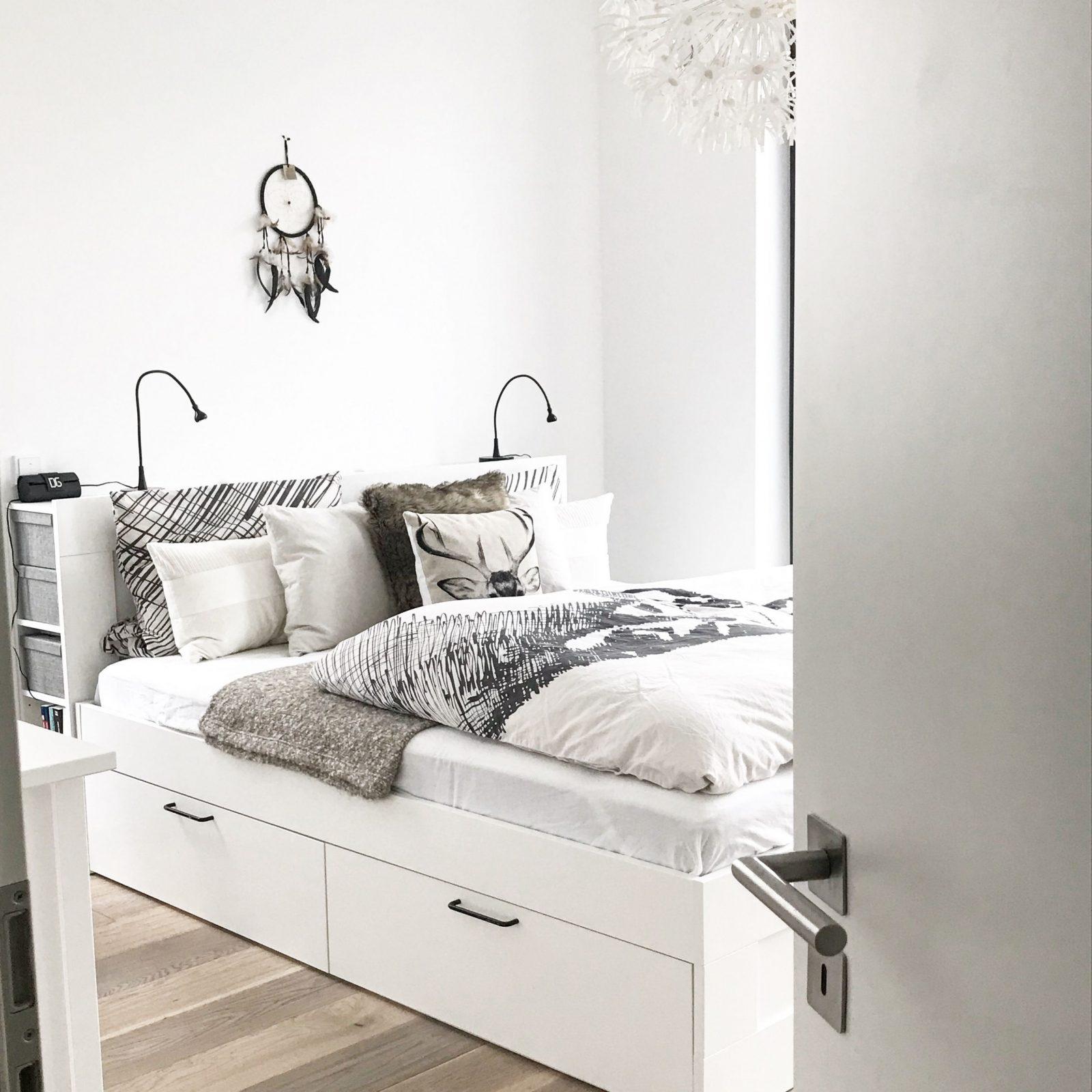 Ikea Brimnes Bett Bettkasten Stauraum Schlafzimmer Bedroom von Stauraum Ideen Schlafzimmer Photo