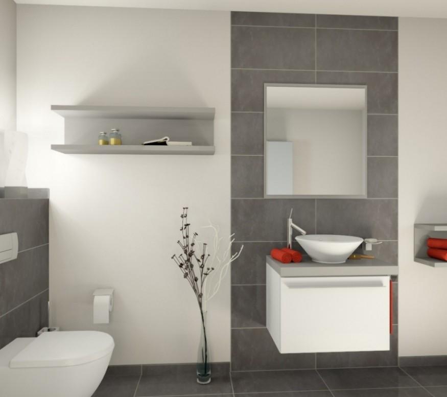 Inspiration Grau Badezimmer Fliesen von Moderne Badezimmer Fliesen Bild