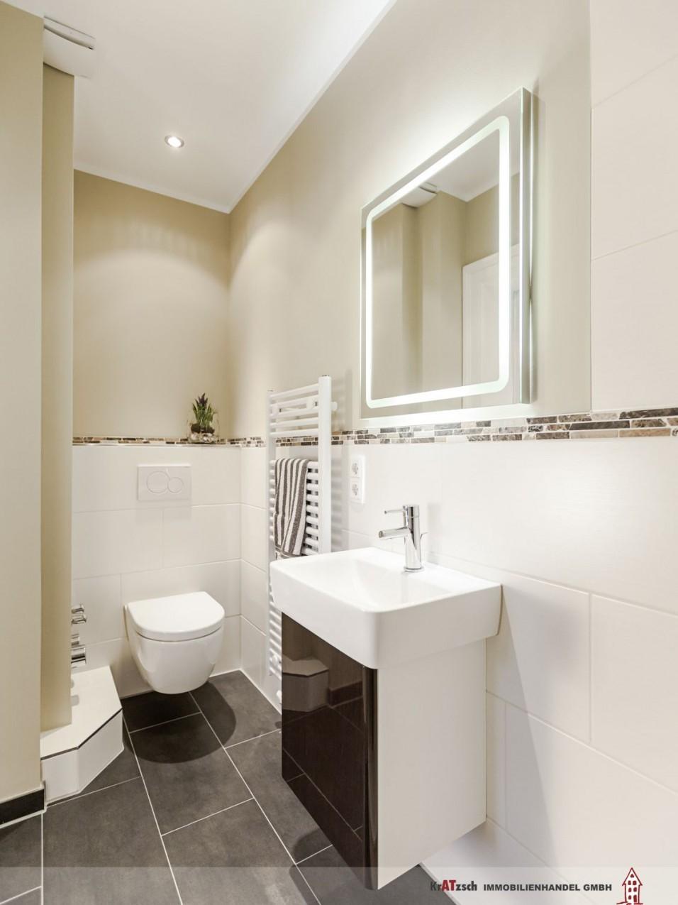 Klare Linien Im Gästebad Mit Dusche Wc Und von Ideen Für Badezimmer Fliesen Bild