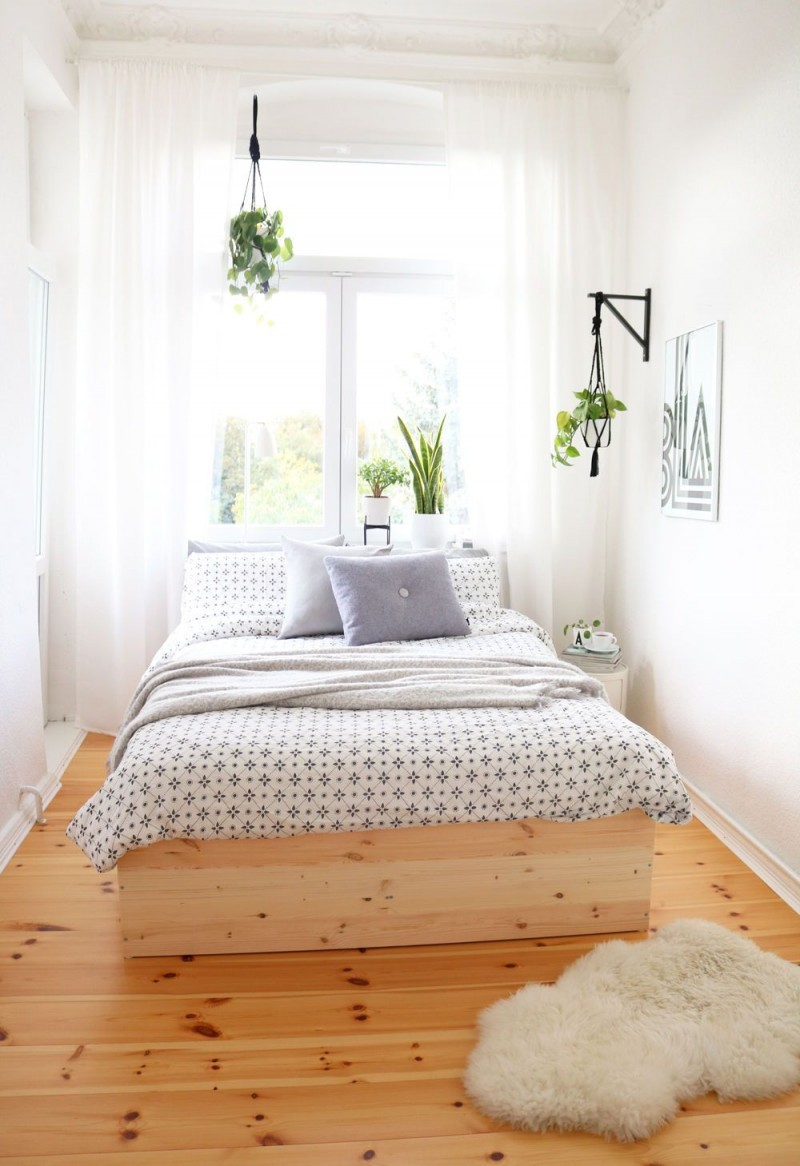 Kleine Schlafzimmer Einrichten  Gestalten von Stauraum Schlafzimmer Ideen Bild