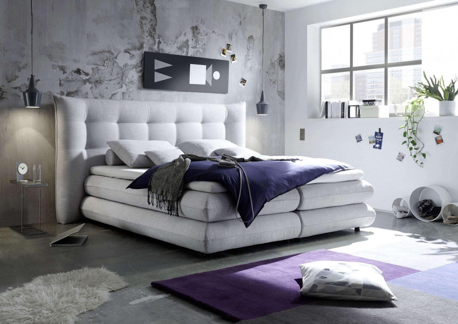 Luxus Komplett Schlafzimmer Boxspringbett Designideen  All von Schlafzimmer Boxspringbett Ideen Bild