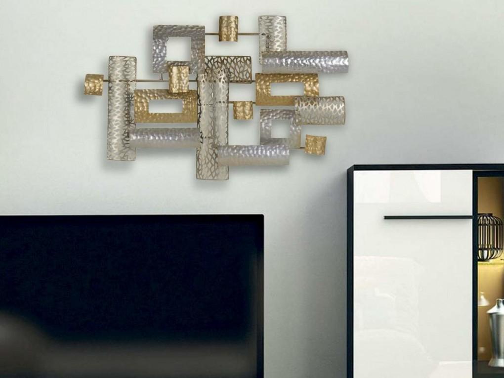 Metall Wanddeko Rechtecke 73Cm von Dekoration Für Die Wand Bild