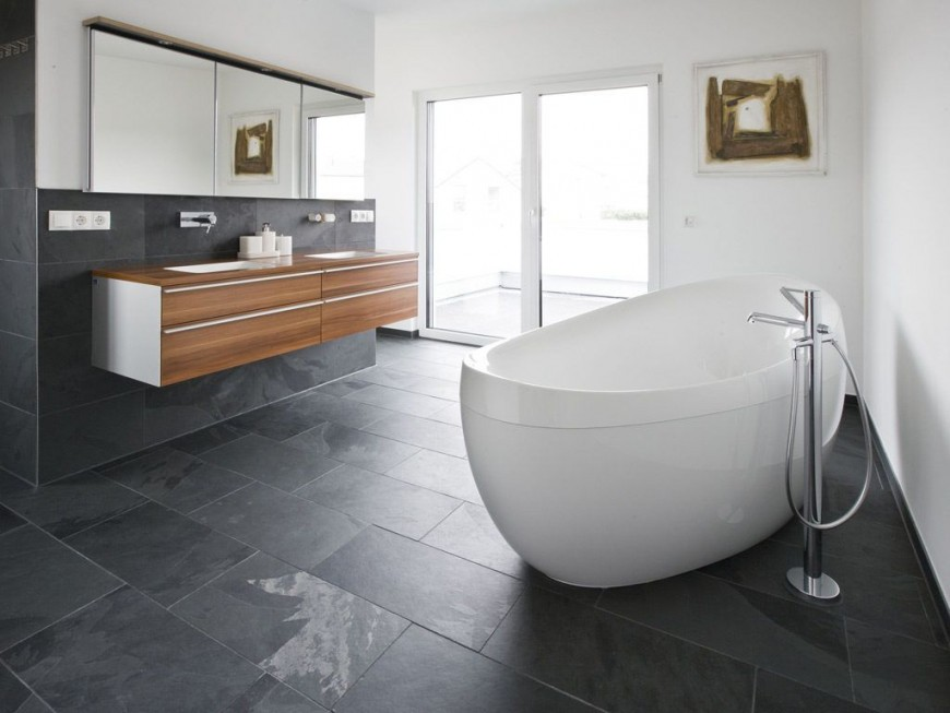 Moderne Badezimmer Günstig  Bathrooms  Badezimmer von Moderne Badezimmer Fliesen Bild