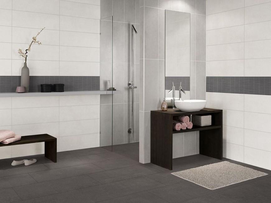Moderne Deko Idee Badfliesen Ideen Hinreißend On Moderne von Badezimmer Fliesen Ideen Schwarz Weiß Bild