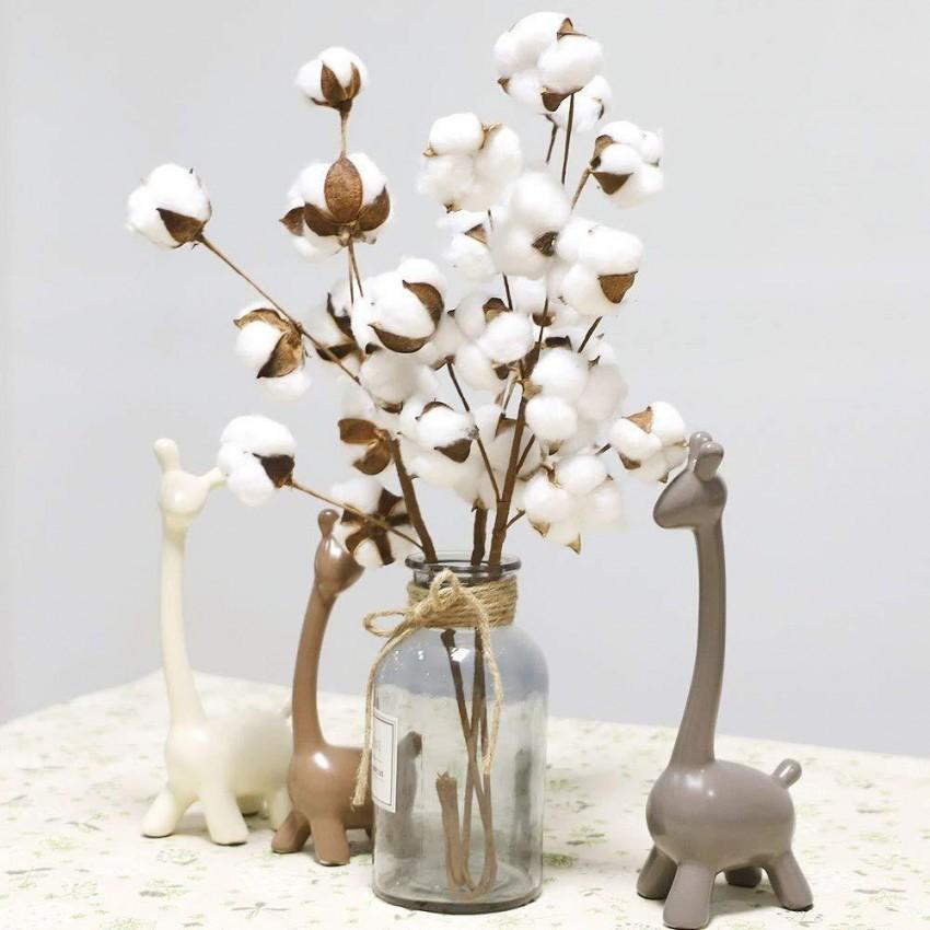 Natürlich Getrocknete Baumwolle Blume Künstliche Pflanzen Blumenzweig Für  Hochzeit Dekoration Gefälschte Blumen Wohnkultur  L von Dekoration Blumen Künstliche Pflanzen Bild
