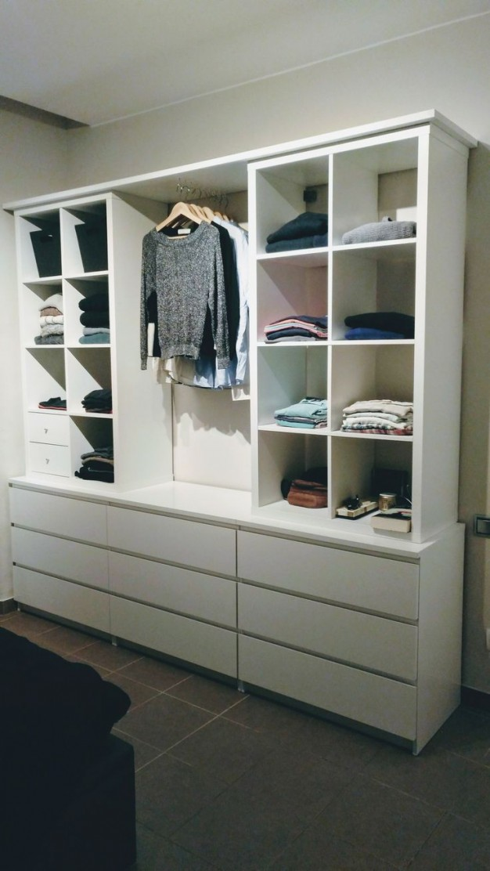 Offener Schrank Mit Kallax Und Malm  Diy Wohnen  Ikea von Schlafzimmer Kleiderschrank Ideen Photo