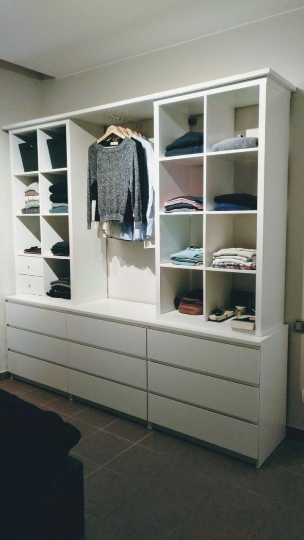 Offener Schrank Mit Kallax Und Malm  Diy Wohnen  Ikea von Schlafzimmer Schrank Ideen Photo