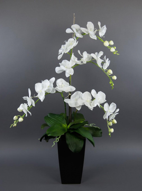 Orchidee Deluxe Kunstblumen Seidenblumen Kunstpflanzen von Dekoration Blumen Künstliche Pflanzen Photo