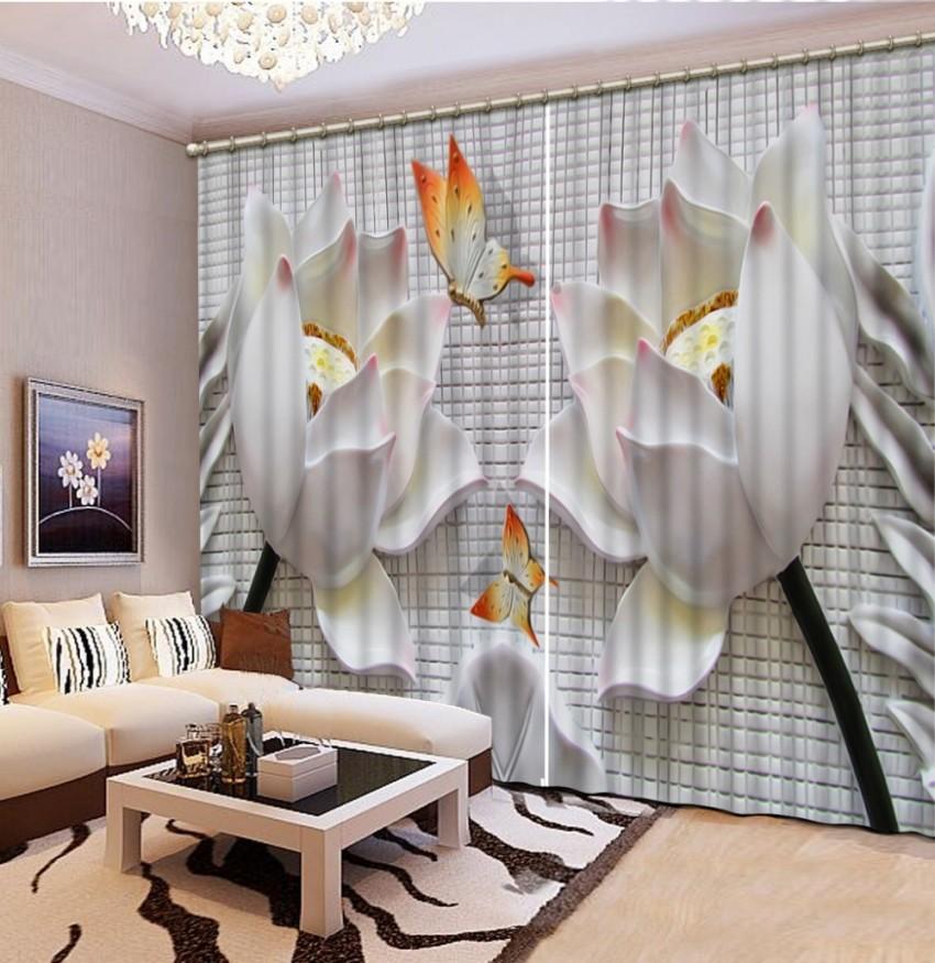 Relief Blume Schmetterling Vorhänge Für Wohnzimmer 3D Fenster Vorhänge Für Bettwäsche Zimmer Dekoration von Dekoration Fürs Zimmer Photo