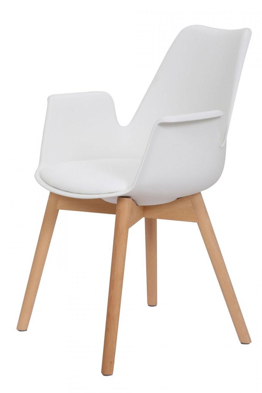 Retro Modern Design Weiß 2Er Set von Esszimmerstühle Modern Mit Armlehne Bild