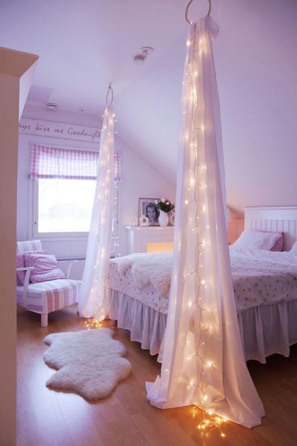 Romantische Atmosphäre Im Mädchenzimmer  Betthimmel Und von Schlafzimmer Ideen Romantisch Bild