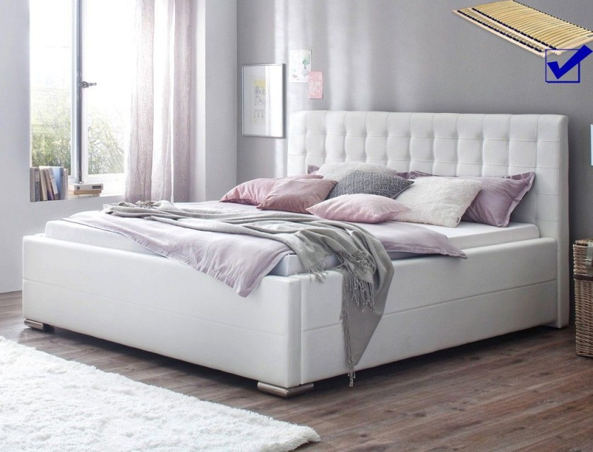 Schlafzimmer Bett Weiss  Bett Ideen von Schlafzimmer Ideen Weiß Bild