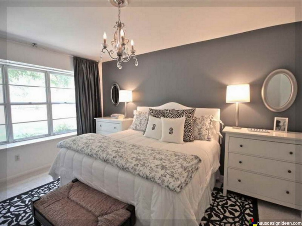 Schlafzimmer Ideen Grau Weiß026  Schlafzimmer von Schlafzimmer Weiß Ideen Bild