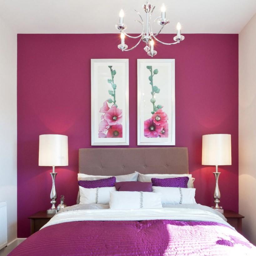 Schlafzimmer Wandfarbe  Ideen Für Grelle Schlafzimmer von Schlafzimmer Wandfarbe Ideen Bild