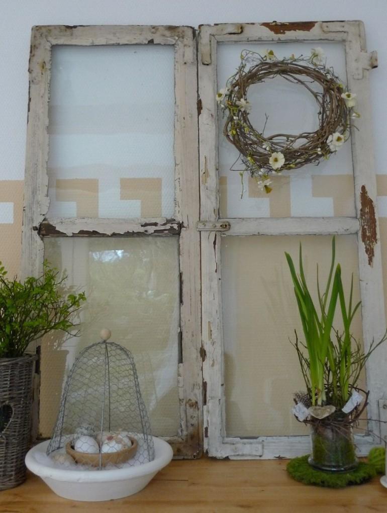 Shabby Fenster Als Dekoration  Fenster  Alte Fenster Alte von Dekoration Für Fenster Bild